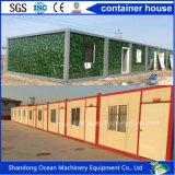 Estructura de acero prefabricada que construye la casa prefabricada del edificio del envase modular de la oficina