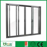 De Schuifdeur van het Glas van het aluminium met Dubbel Aangemaakt Glas