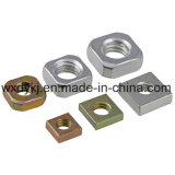 Noix carrées galvanisées de jaune d'acier du carbone