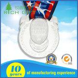 使用できる光沢があるカスタマイズされた銀製犬のターミナル手の土台メダル高品質
