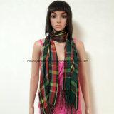 100% Polyester, Voile-materielles Garn gefärbter Schal mit Checks