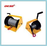 Treuil manuelle à câble avec fissure et frein