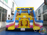Alta calidad Carrera de obstáculos inflable con diapositivas