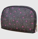 Sac de produit de beauté de PVC estampé par coeur de sac de renivellement de sac de poche de course de fournisseur de la Chine