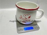 Taza de café creativa del borde del balanceo de la taza del esmalte