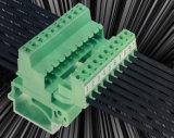 接続をワイヤーで縛るワイヤーのためのDINの柵が付いている差込式の端子ブロック