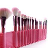 Cepillos rosados determinados del maquillaje del PCS del Portable de la fibra artificial de las herramientas del maquillaje de la PU del profesional cosmético 22 del bolso