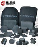 Placa de cerámica del Sic del carburo de silicio para el chaleco 30*30*12m m de la seguridad