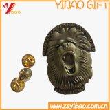 Custom Logo Antique Brass Plaqué Lion Badge cadeau (YB-HD-104)