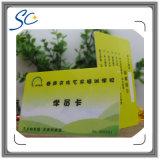 Cartes en plastique à finition matte avec numéro d'impression thermique
