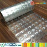 HUAYUAN反偽造のこわれやすいdestructible NTAG213 NFC HFのタンパーの証拠の象眼細工の札