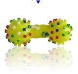 Juguete chillón del perro del nuevo del vinilo sonido colorido de la pesa de gimnasia