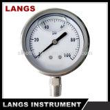 071 todo o calibre de pressão enchido líquido do aço inoxidável