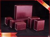 Contenitore di carta nero di imballaggio del regalo del contenitore di anello del contenitore di monili