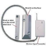 ワイヤーで縛られた金属のドアのリードスイッチ磁気接触アラーム表面の台紙