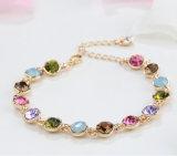 18K de hete Armband van de Armband van het Hart van het Kristal van de Bergkristallen van de Verkoop Witgoud Geplateerde