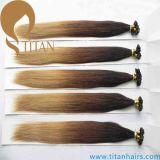 Estensione dei capelli di punta della cheratina U di colore di 18/24# Ombre