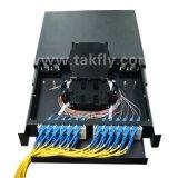 FTTH 24 포트 Slidable 랙마운트 1u 19 인치 광섬유 패치 패널