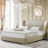 Бежевый цвет кожи кровать для использования с одной спальней (FB2102)