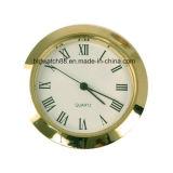 Reloj del tono de plata redondo de la pieza inserta del movimiento del cuarzo mini con números