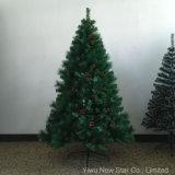 Árbol de navidad con la talla el 1.2m, el 1.5m, el 1.8m, los 2.1m de los conos del pino de la mezcla de la cereza los 2.4m