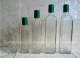 бутылка прозрачного бессвинцового квадратного оливкового масла 250ml стеклянная