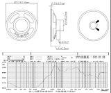 altofalante de papel do cone 4-8ohm 0.25-1W de 57mm
