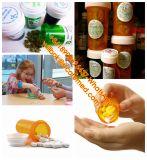Frascos reversíveis de plástico Frascos de comprimidos ou frascos DRAM com tampão resistente a crianças