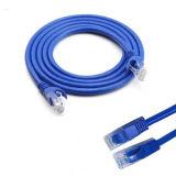 cabo CAT6 RJ45 da rede do LAN do Ethernet do cabo da correção de programa de 1m/2m/3m