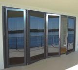 Дверь складчатости Bi алюминиевого сплава с австралийским стандартным двойным стеклом для дизайна интерьера