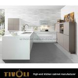 木製の黒い台所単位ヨーロッパ式Tivo-0277h
