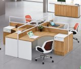 Poste de travail de personnel de boîtier de partition de bureau de Module de mémoire de 4 portées (HX-NCD060)
