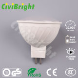 MR16 de 5W Bombilla LED regulable cubierta de PC de grano Romano LÁMPARA DE LED Spotlight