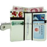Carteira de couro PU branco caixa de telefone