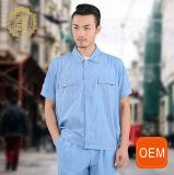 Workwear колеривщиков OEM форма Workwear втулки краткости хлопка лета голубого равномерная