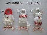 Figuras de Navidad en la decoración de madera Balanza de regalo de Navidad -3asst