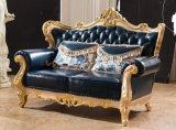 Sofà di cuoio moderno del salotto del sofà con cuoio genuino per l'insieme di salone