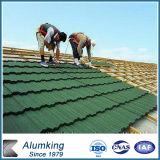 Tipo romano mattonelle di tetto rivestite del metallo della pietra di verde