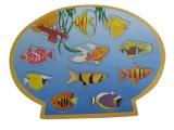 Головоломка рыболовства деревянной игры магнитная