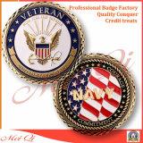 Polizia militare dell'esercito americano sfidiamo la moneta