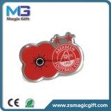 Emblema superior do metal da flor das vendas para a propaganda