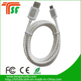Cavo variopinto della carica di alta qualità del cavo del USB del cuoio