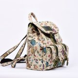 Búho Tejiendo Jacquard tela no impermeable al aire libre Backpack Bag