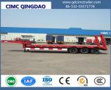 Cimc 판매 트럭 포좌를 위한 반 3 차축 13m 60tons 거위 목 모양의 관 Lowbed 트레일러