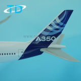 A350 Model van het Vliegtuig van de Kleur van het Huis van de Luchtbus het Plastic