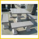 花こう岩の石造りの庭の表及びベンチ