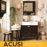 Vanité simple de salle de bains en bois solide de type de qualité de la meilleure qualité neuve (ACS1-W44)