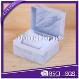 Cajón de diseño de la textura de papel reloj caja de regalo con almohada de terciopelo
