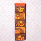 Tipo colgante de múltiples capas colgante colgante bolso del bolso de la puerta de la pared del dormitorio del almacenaje del armario del bolso de la historieta cinco del almacenaje