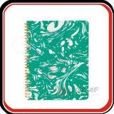 Cuaderno semanal del mármol del planificador del espiral de encargo del Hardcover A5